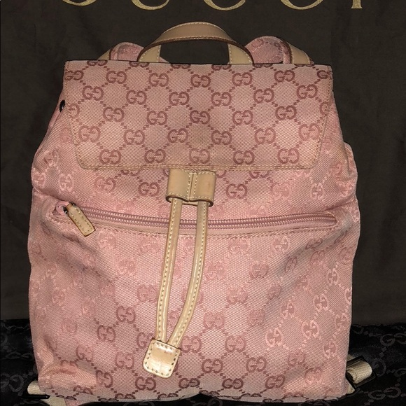8c833000c6 Gucci Handbags - Authentic Small Gucci Mauve Pink Backpack 🎒